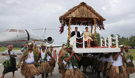 Takto uctili příjezd Williama a Kate v ostrovním státě Tuvalu.