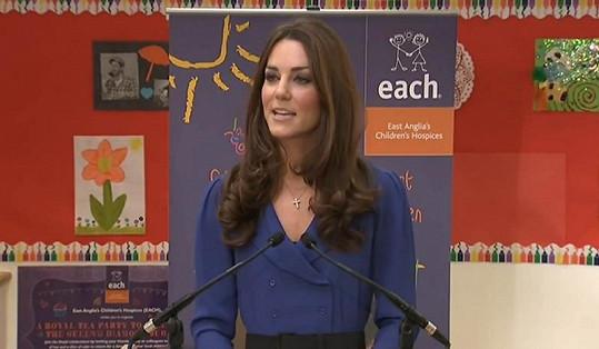 První veřejný projev princezny Catherine.