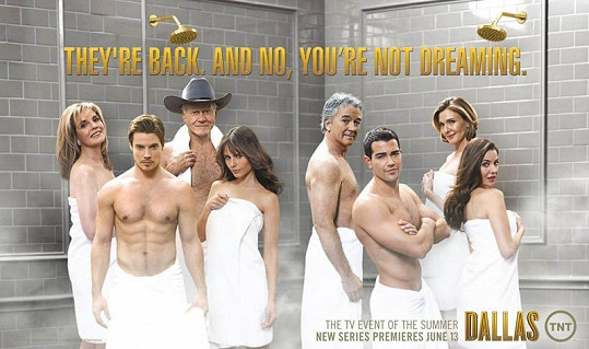 Seriál Dallas se vrací na americké televizní obrazovky s vtipným promo.