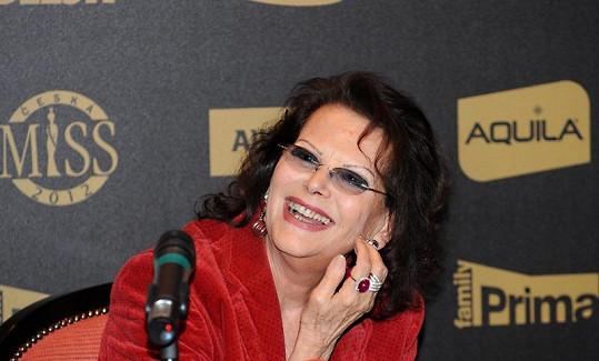 Claudia Cardinale zítra zasedne v porotě České Miss.