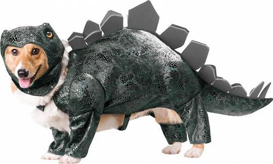 Kostým dinosaura.