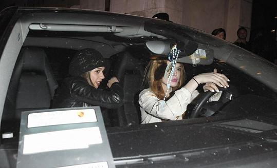 Lindsay Lohan krátce po nepříjemném incidentu.