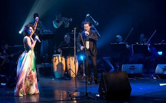 Jedním z hostů koncertu byla jeho půvabná expřítelkyně Markéta Procházková.