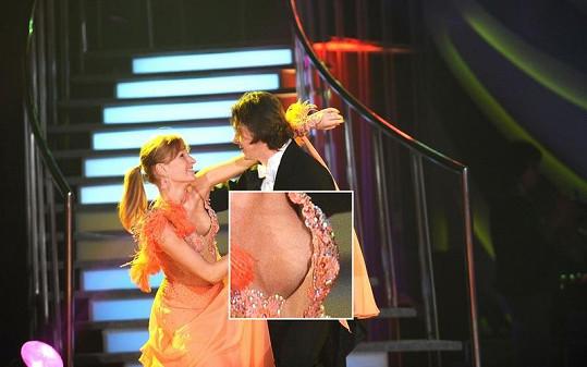 Tereza Bufková při tanci s Martinem Procházkou ukázala víc, než čekala.