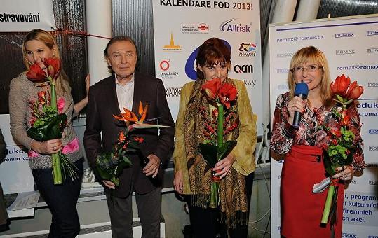 Křest kalendáře pro nadaci Fond ohrožených dětí Marie Vodičkové moderovala Štěpánka Duchková.