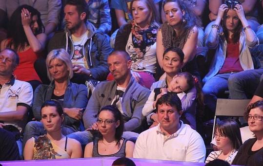 Show si přišli vychutnat i Vlaďka Erbová s Tomášem Řepkou a dcerou Viktorkou.
