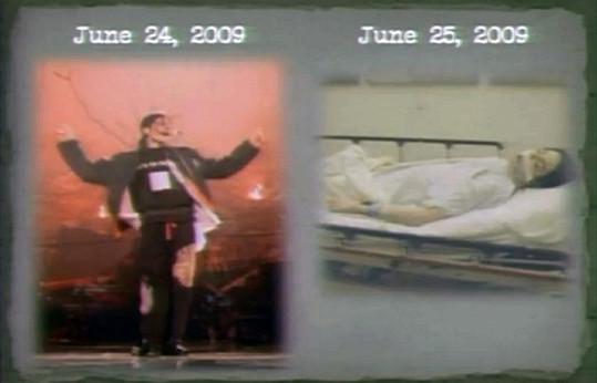 Část spisu zpěváka Michaela Jacksona.