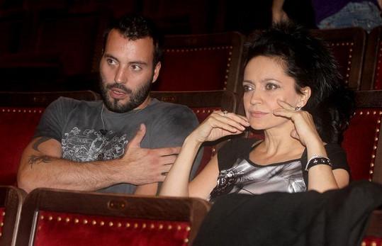 Lucie Bílá a Václav Noid Bárta na zkoušce muzikálu Aida.