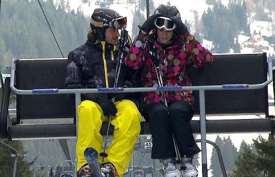 Lucie Váchová Křížková s manželem Davidem oslavili svátek sv. Valentýna předčasně na horách.