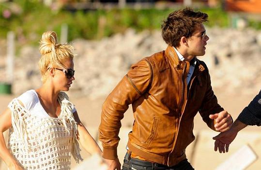 Katie Price a její bývalý snoubenec před časem v Argentině.
