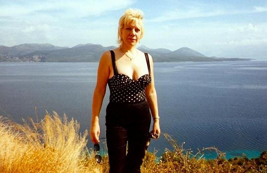 Na dovolené na Kanárech. Marie vážila 53 kg (2004).