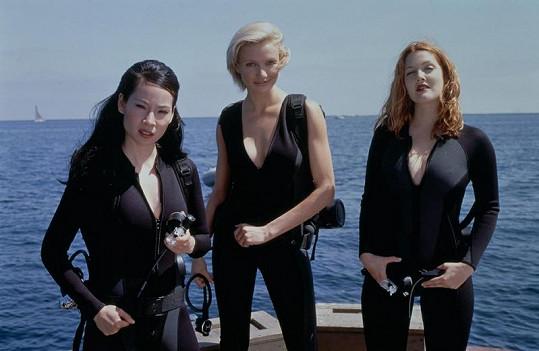 Drew (vpravo) s Lucy Liu a Cameron Diaz ve filmu Charlieho andílci.