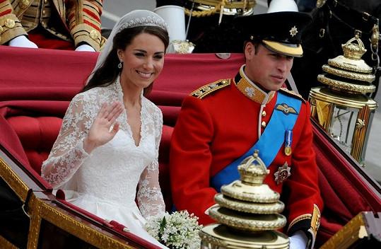 """William a Kate poté, co si řekli své """"ano""""."""