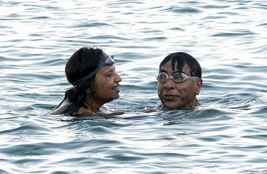 Mittal a jeho manželka Usha.