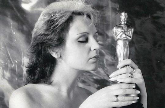 Fotka z původního focení, kde se Petra objevila s Oscarem.
