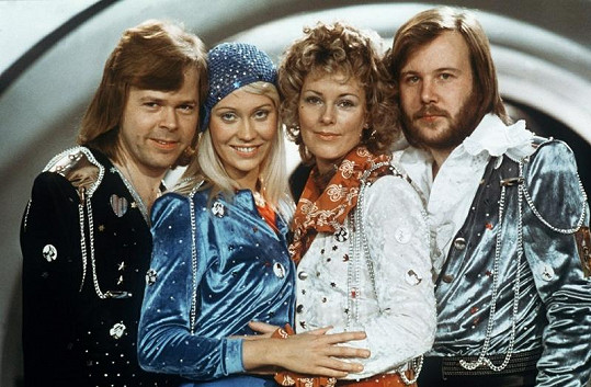 Skupina ABBA v kompletním složení, zleva: Björn Kristian Ulvaeus, Agnetha Fältskog, Anni-Frid Synni Lyngstad a Benny Andersson.