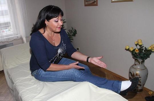Dagmar Patrasová nemá nohu zatěžovat.