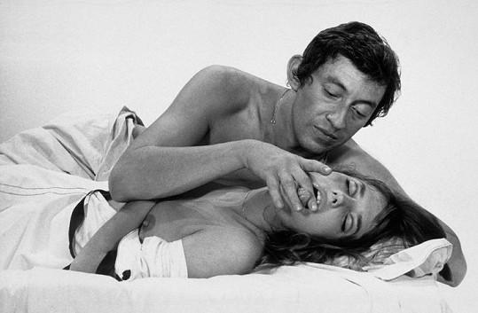 Jane Birkin s manželem Sergem Gainsbourgem, který byl milencem Brigitte Bardot.