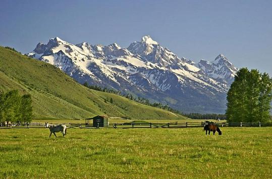 V takto krásném prostředí amerického státu Wyoming bude žít nový majitel lukrativní nemovitosti.