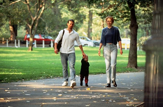 Nicole a Tom s dcerou Isabellou v roce 1998.