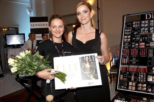 Markéta Plánková s make-upistkou Nikolou Kratochvílovou.