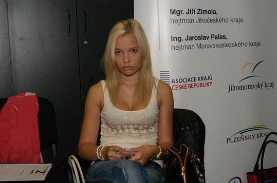 Kristýna Pumprlová na Miss Junior.