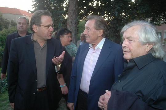 Borek Severa, Karel Gott a Pavel Vrba.