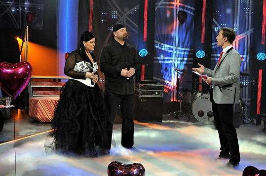 Takhle Leonu oblékli do televizní show Valentinské duety na TV Barrandov.