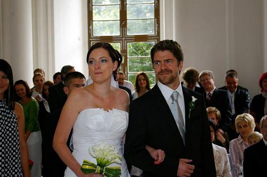 Viktor Limr se svou novomanželkou.