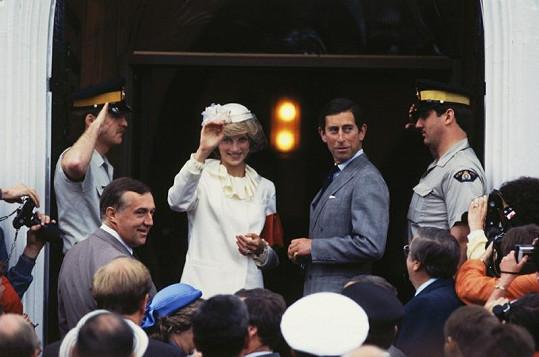 Princezna Diana s Charlesem na návštěvě Kanady v roce 1983.