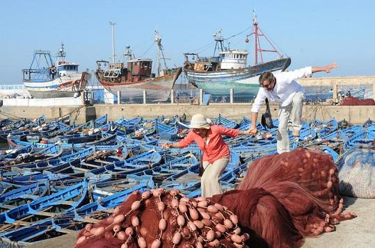 Romantické zákoutí v přístavu v Maroku.