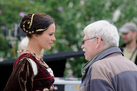 Jitka Čvančarová s režisérem Eugenem Sokolovským mladším.