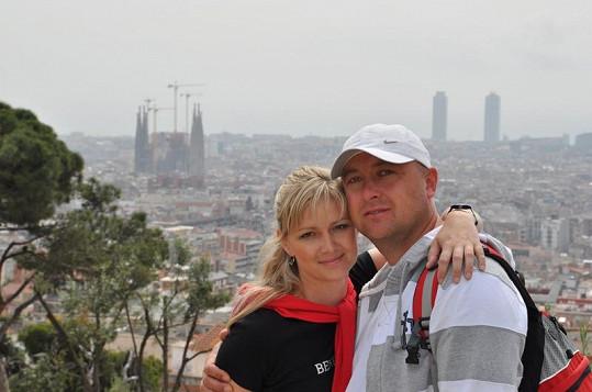 Monika s manželem na prodlouženém víkendu v Barceloně.