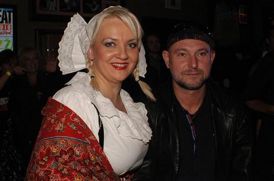 Kateřina Hamrová s fotografem Jakubem Ludvíkem.