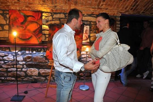 Martin Straka a Inna Puhajková na výstavě.