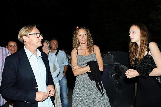Ondřej Havelka s manželkou Alicí a půvabnou dcerou Rozárkou.