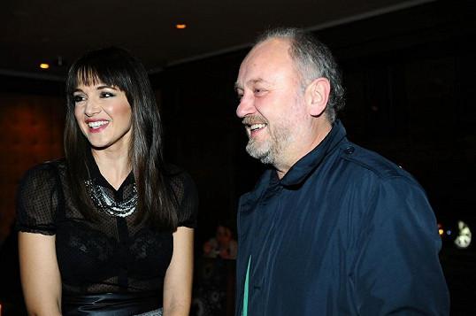 Iva Kubelková s partnerem (nebo manželem?) Ladislavem Doležalem.