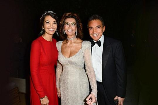 Afef Jnifen, Sophia Loren a Antonio Gallo.