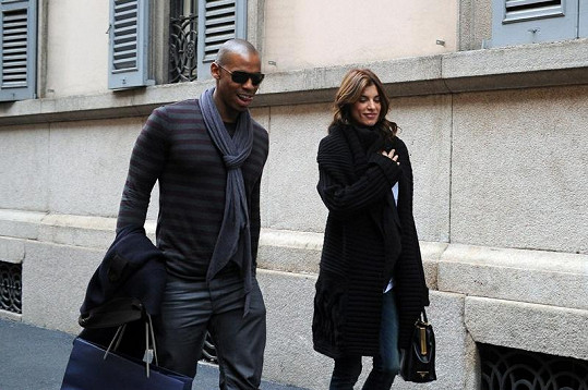 Elisabetta Canalis se svým novým partnerem Mehcadem Brooksem.