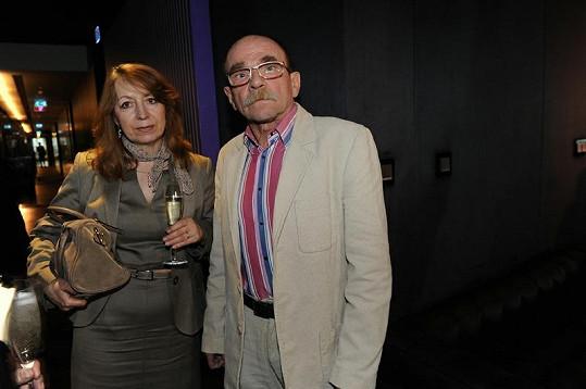 Jaroslav Uhlíř s přítelkyní Helenou Chladovou.