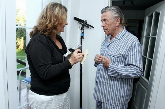Petr Kostka si natáčení užíval.