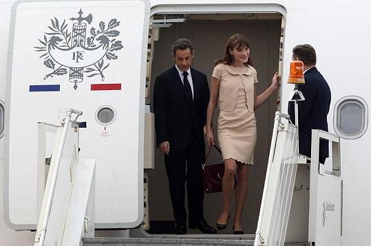 Krásná Carla s manželem Nicolasem Sarkozym.