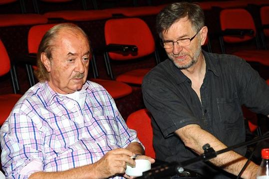 František Janeček s režisérem Petrem Novotným na konkurzu