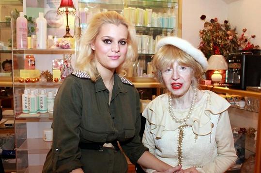 Ornella Štiková se svou kosmetoložkou paní Inkou.