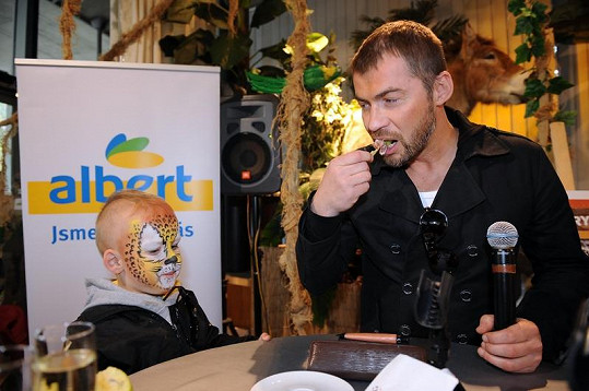 Bořek Slezáček se synem Koljou.