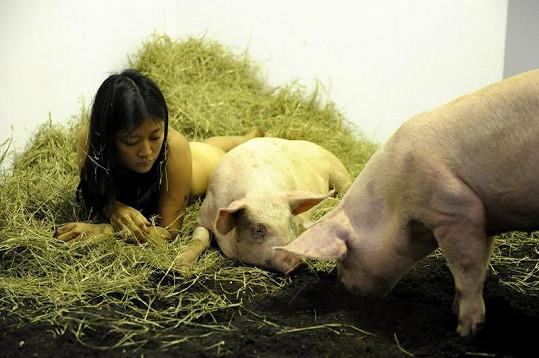 Umkělkyně mezi zvířaty strávila čtyři dny.
