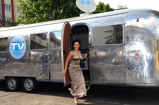 Lucie Bílá měla během natáčení jako správná celebrita vlastní karavan.