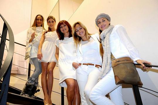 Beata Rajská se svými oblíbenými modelkami.