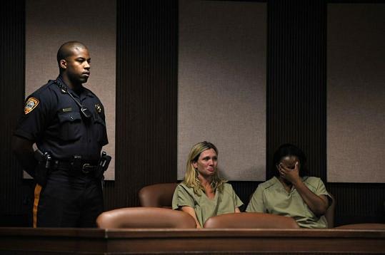 Amy Locane-Bovenizer během jednoho ze soudních stání.