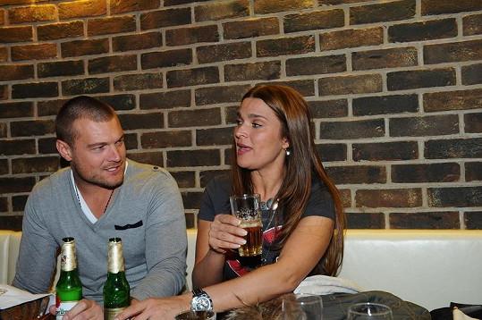 Mahulena Bočanová s přítelem Martinem Černým.